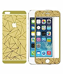I PHONE 6 3D COLORED GLASS FRONT & BNACK GOLDEN