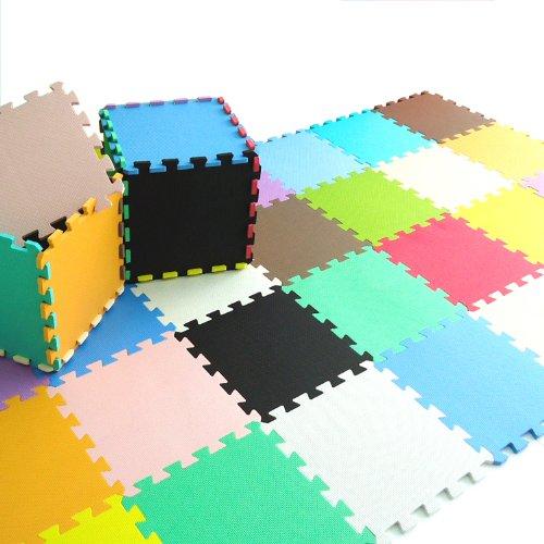 Pure Colour Spielmatten für Kinder Weiche Puzzle Mats EVA-Schaum-Matten Bodenbelag Mats (9tlg, Mischen - Mixed)