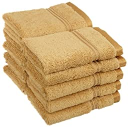 Superior Egyptian Cotton 10-Piece Face Towel Set, Gold by Superior