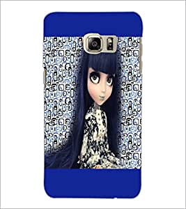 PrintDhaba Long Hair Doll D-5044 Back Case Cover for SAMSUNG GALAXY NOTE 5 EDGE (Multi-Coloured)