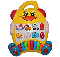 Best New Educational Baby Piano Toy. Play Musical Activity Center Learning Zoo Animals with Beautiful Lights for Toddlers & Infant by Tevelo