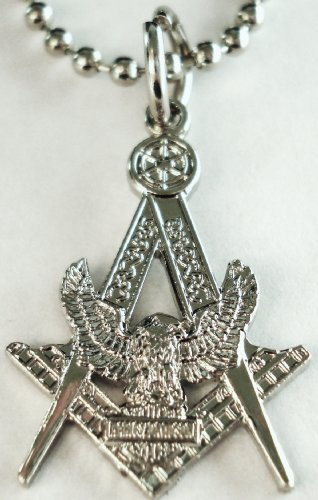Harley Davidson Motorcycle HOG Masonic Freemason Pendant Necklace w/ Ball Chain