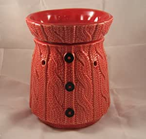 Scentsy Warmer Comfy Cozy Red Sweater Full