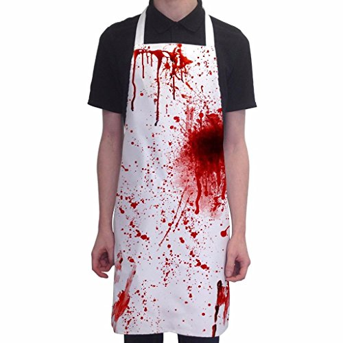 BBQ Apron Halloween Costume Bloody Butcher Novelty Aprons Cooking Gifts for Men (Bbq Clothing compare prices)