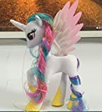 "CharmTM 5.5"" Princess Celestia Plastic My Little Pony Toy Figures Alicorn Unicorn White"