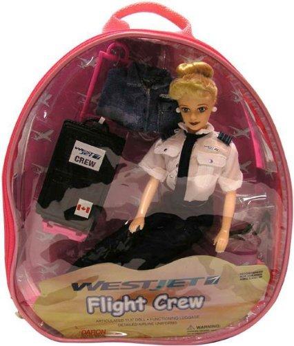 westjet-flight-attendant-doll-w-luggage