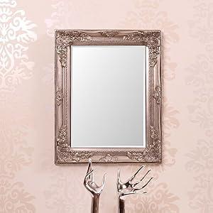 Cadre miroir baroque for Miroir argent baroque