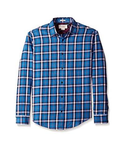 Original Penguin Men's Box Plaid Flannel Shirt