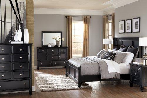 Beautiful Ashley Greensburg Piece Panel Bedroom Set in Black