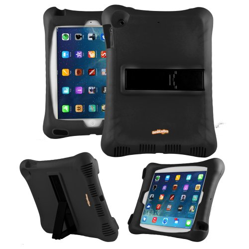 Anitoon Amplifier Speaker Case Cover For Ipad Air 5Th Gen Black With Armor Body And Stand