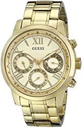 GUESS Women's U0330L1 Gold-Tone Stainless Steel Multifunction Watch