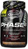 MuscleTech Phase 8 Protein Powder, Multi-Phase 8-Hour Protein Formula, Peanut Butter Chocolate, 2.0 lbs (907g)