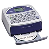 Casio Disc Title Printer with Qwerty keyboard (CW-75) (Color: Silver and blue)