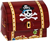 6 Pack Paper Pirate Treasure Chest Party Favors