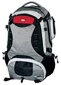 "Swiss Gear SG25095 Jaeger Mid Size Panel Load Internal Frame Pack - 22""x12""x7"" - Grey/Black/Red/White"