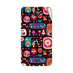 Garmor Designer Mobile Skin Sticker For Intex Aqua i4 Plus - Mobile Sticker