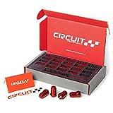 Circuit Performance Spline Drive Tuner Acorn Lug Nuts Red 12x1.5 (20pc + Tool)