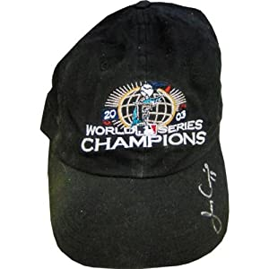 Jeff Conine Autographed 2003 Florida Marlins Hat - Autographed MLB Helmets and Hats by Sports+Memorabilia
