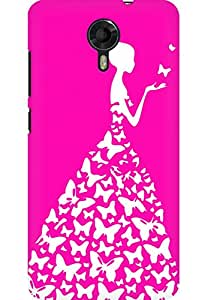 AMEZ designer printed 3d premium high quality back case cover for Micromax Canvas Xpress 2 E313 (bright pink and white girl princess)
