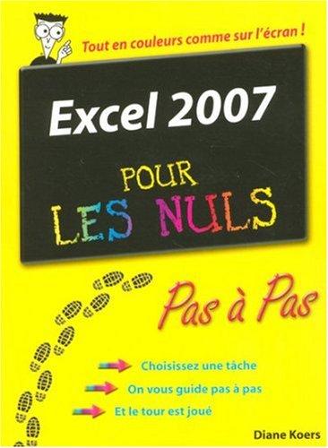 Livre excel 2007 pas pas pour les nuls - L immobilier pour les nuls ...