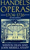 img - for Handel's Operas, 1704-1726 (Clarendon Paperbacks) book / textbook / text book
