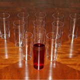 Disposable Plastic Straight Wall Shooter Cups - 5 oz: Pack of 12 Cups