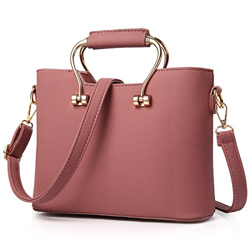 Koson-Man, Borsa tote donna, Pink (rosa) - KMUKHB120-06