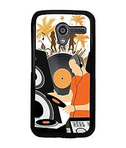PRINTVISA Rock Party Premium Metallic Insert Back Case Cover for Motorola Moto X - D5779