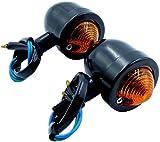 汎用 バレット ウインカー ビレット ブレット アメリカン 改装 シルバー 黒 ブラック 2個