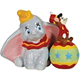 Westland Giftware Magnetic Ceramic Salt and Pepper Shaker Set, 3.5-Inch, Disney Dumbo and Timothy