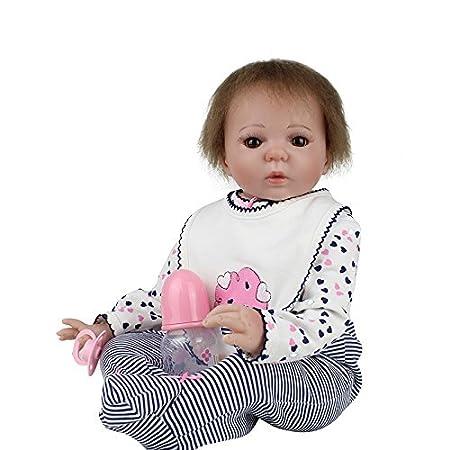 """21 """"Lovely Reborn Baby Doll corps doux et cheveux enracinés"""
