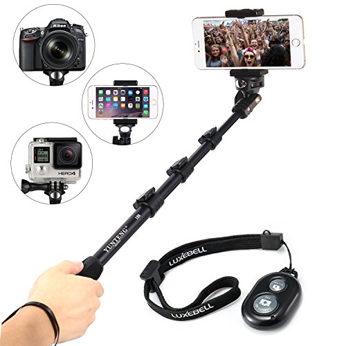 "Cheap Luxebell 50"" Selfie Stick Durable Handheld Monopod Pole for Cellphones Gopro Dslrs & ..."