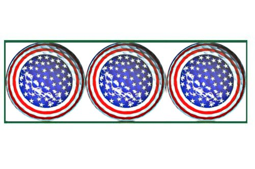 American Stars and Stripes Designed Golf Balls - 3 balls in a box