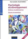 echange, troc Henri Lehalle, Daniel Mellier - Psychologie du développement : Enfance et adolescence, cours et exercices