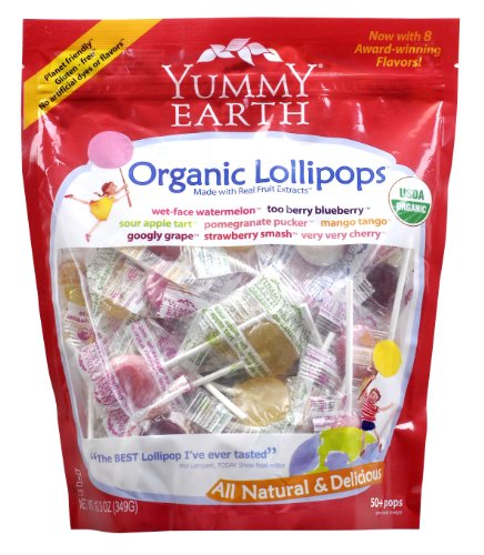 Yummyearth Organic Lollipops, Assorted Flavors, 12.3-ounce Bags (pack Of 4) Picture