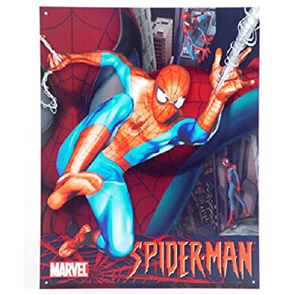 "Marvel - Spiderman Tin Sign 12.5""W x 16""H , 13x16"