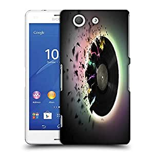 Snoogg Shattered Vinyl Music Designer Protective Phone Back Case Cover For SONY XPERIA Z3 COMPACT