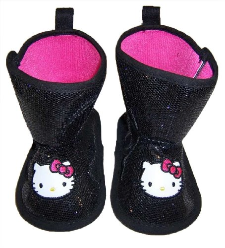 Infant-Toddler-Hello-Kitty-Black-Soft-Sole-Boots