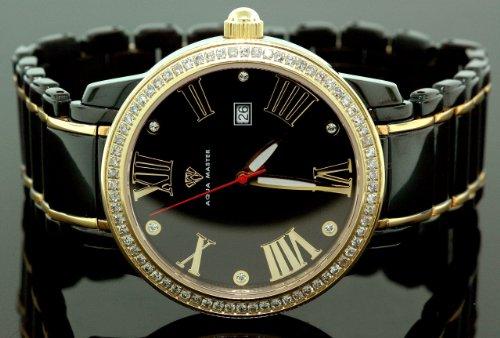 AQUA MASTER 0112MUU49BN - Reloj para hombres, correa de metal color negro