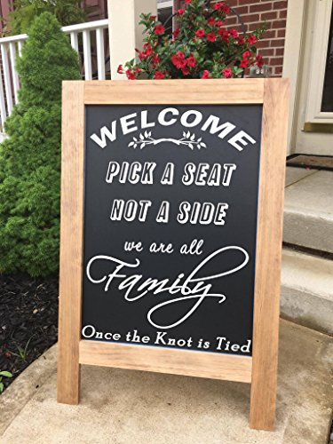 Chalkboard Sign - Standing - Pick a Seat, Not a Side - Standing A-Frame Sign - 36