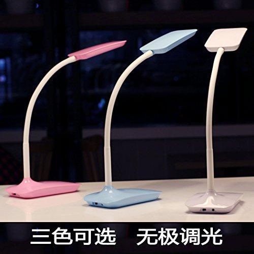 FDH  Occhio creativo lampada da scrivania a LED desk bedroom comodino carica di illuminazione plug-in electric lampada da tavolo , pink