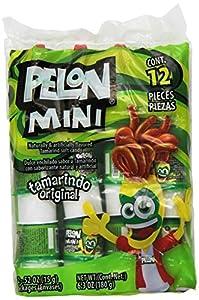 Pelon Pelo Rico Mini Pelon Bags, Tamarindo, 12 Count - .52 oz  Net WT 6.3 oz  (Pack of 12)