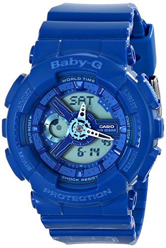 Casio Women's BA110BC-2ACR Baby G Analog-Digital Display Quartz Blue Watch