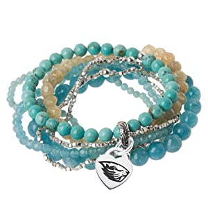 Oregon State Beavers Multi Strand Turquoise Bracelet by College Jewelry