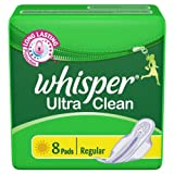 Whisper Ultra Clean, Regular, 8 Pads