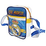 Real Madrid CF Official PVC Football Crest Shoulder Bag (One Size) (Blue/White/Yellow)