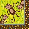 Creative Converting Monkeyin Around Lunch Napkins 16 Count