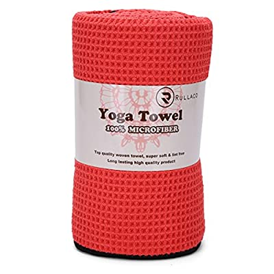 Hot Yoga Mat Towel - Microfiber, Super Absorbant, Non Slip, Skidless, Quick-dry, Eco-friendly - Best for Bikram, Pilates, Gym, Fitness, Beach, Outdoors Sports, Sauna and Travel - Lifetime Guarantee