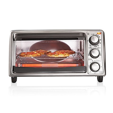 Black & Decker 4-Slice Toaster Oven | Bake pan & Broil Rack (Small Space Toaster Oven compare prices)