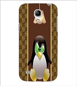 PrintDhaba Cute Penguin D-4777 Back Case Cover for SAMSUNG GALAXY S4 MINI (Multi-Coloured)